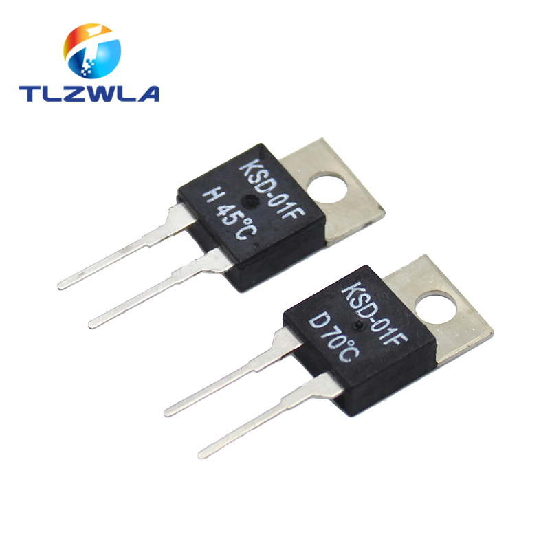 5PCS/lot KSD-01F Temperature Switches TO220 Normally Open H And Normally Closed D 0 Degrees -150 Degrees