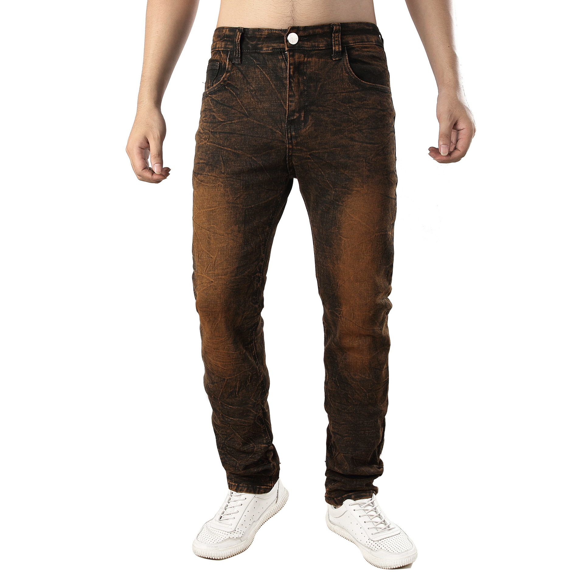 Men Ultra-stretch Slim Fit Jeans Drag Color Men'S Wear Hot Selling Cowboy Trousers