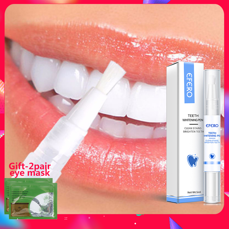 Teeth Whitening Pen Cleaning Stains Remove Plaque Bleaching Gel Pen Whitening Tools Oral Care Hygiene Tooth Whitening Pen Efero