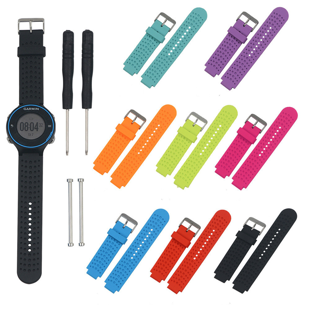 Soft Smart Band Silicone Replacement Wristband Watch Band Strap For Garmin Forerunner230 235 630 735 Lively two color youth in Smart Accessories from Consumer Electronics