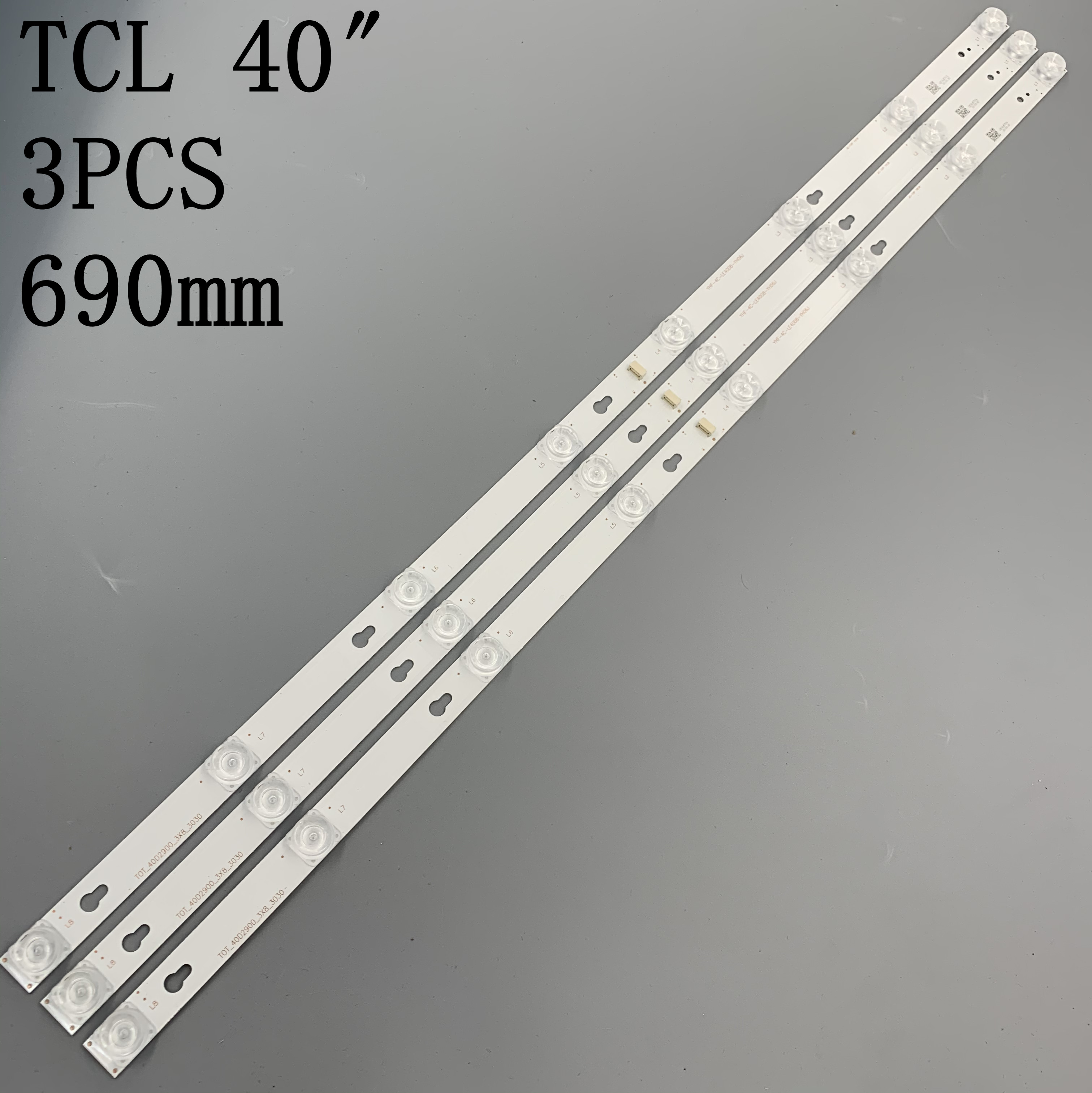 6 PCS LED backlight strip for Toshiba L40F3301B 40A730U 40l2600 L40D2900F TCL F40S5916 40S305 TOT_40D2900 40HR330M08A6 V8
