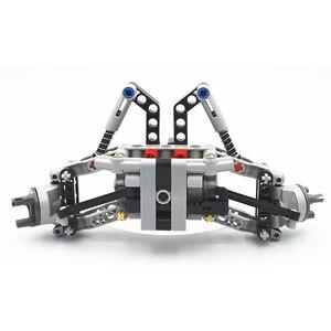 Image 4 - Bloki konstrukcyjne MOC Technic części formuła Off Road z przodu pojazdu System zawieszenia kompatybilne z lego dla dzieci chłopców zabawki