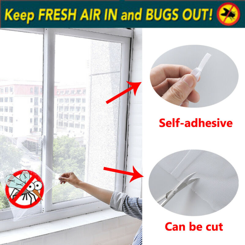 Magnetic Window Mesh Door Curtain Snap Net Mosquito Fly Insect screen mesh net  New Use