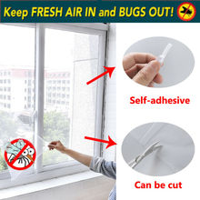 Magnetic Window Mesh Door Curtain Snap Net Mosquito Fly Insect Window screen mesh net  New Use monkey pattern anti mosquito mesh net magnetic curtain