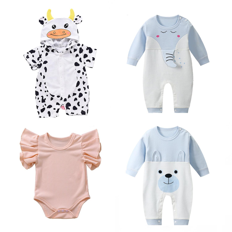 Infant Jumpsuit Summer Romper Animal Print Girl Boy Cotton Suit Newborn Climbing Cartoon Rompers Cheap Stuff Baby Products