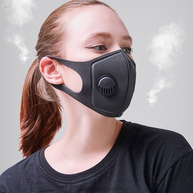 Coslony 1Pcs Anti Pollution Mask Face Mask Dust Mask PM2.5 Activated Carbon Filter Insert Can Be Washed Reusable Mouth Masks 2