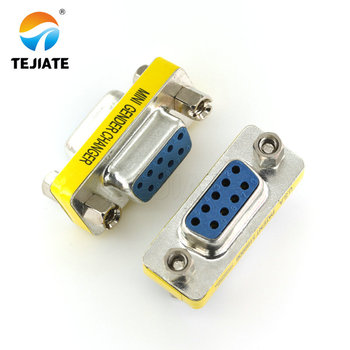 2PCS DB9 9Pin Male To Male Mini Gender Changer Adapter RS232 Serial Connector Female To Female Female To Male D-Sub Connectors pure copper db9 serial cable industrial grade rs232 cord male to male to female 9 pin 485 straight cross plug wire