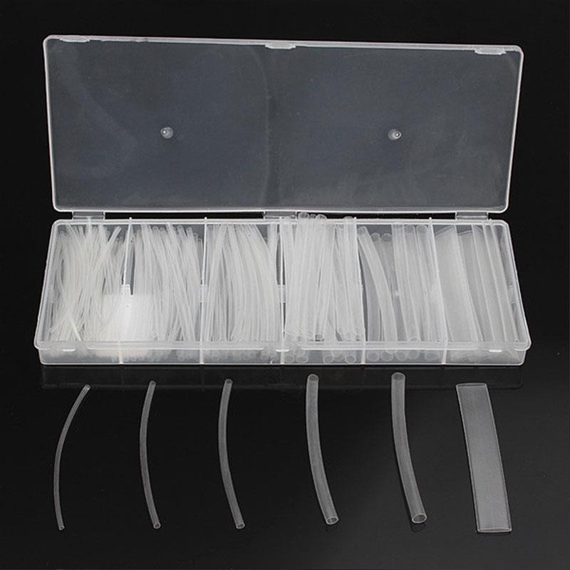 Caixa transparente 2:1 da variedade 150 pces da luva do jogo do tubo do psiquiatra do calor com tubulação elétrica do envoltório do cabo