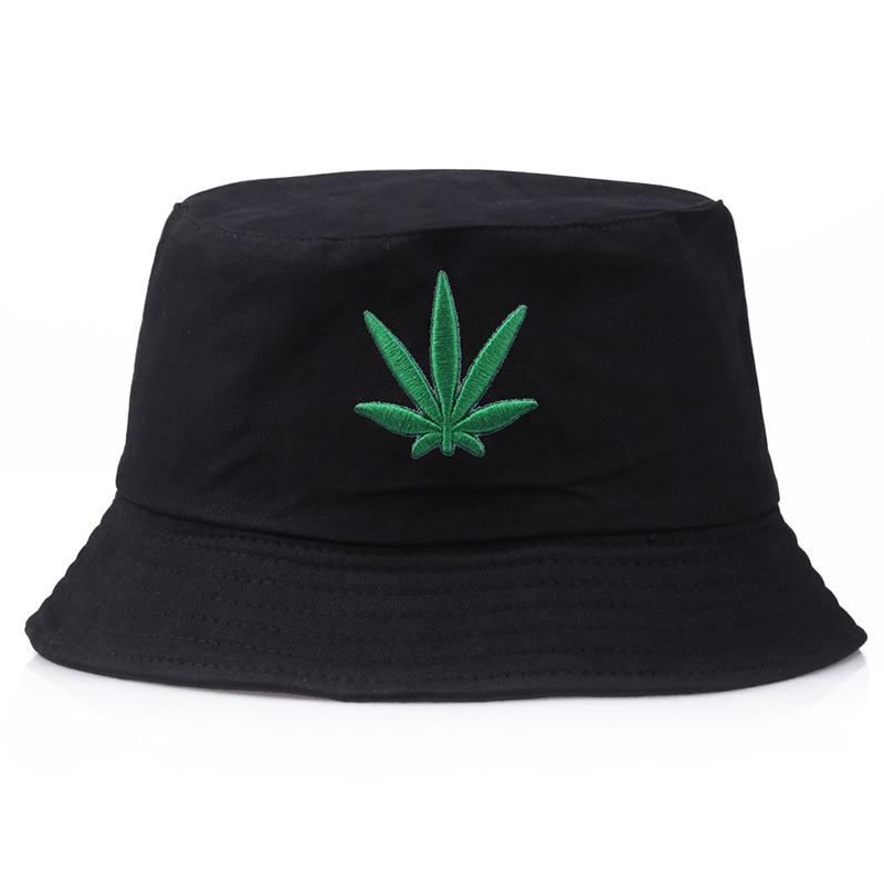Maple Leaf Fisherman Hat Fashion Street Hip Hop Sombreros Bordado Casual Visor Bucket Cap Summer Women Men Outdoor Hats TBG770