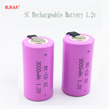 2019 15pcs Sub C SC 1.2V 3000mAh Ni-Cd Ni Cd Rechargeable Battery Batteries Electronic Gadgets