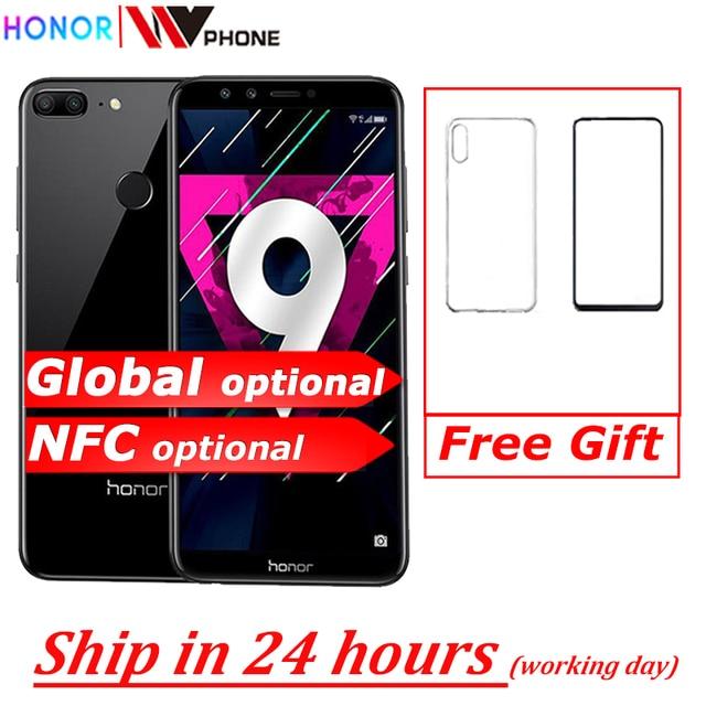 هاتف Honor 9 Lite بشاشة 5.65 بوصة ومعالج ثماني النواة 2160*1080P بكاميرا خلفية مزدوجة الخط وبطارية 3000 مللي أمبير في الساعة مزود بخاصية التعرف على بصمة الإصبع