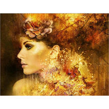 5D diamond Painting Cross Stitch kits diy Diamond embroidery Abstract woman picture Home decor Mosaic pattern wall sticker gift(China)