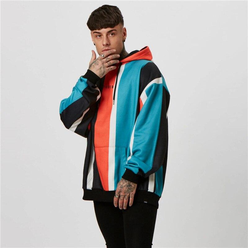 2019Brand Fashion Sweatshirt Men's Hip Hop Long-sleeved Pullover Casual Loose Hoodie Jogger Sweatshirt Hoodie Men's High Quality