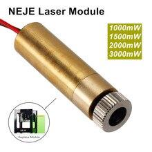 Cabeça do módulo do laser de neje 1000mw/1500mw/2000mw/3000mw 405nm/450nm cabeça de foco ajustável substituição para a máquina de gravura kz