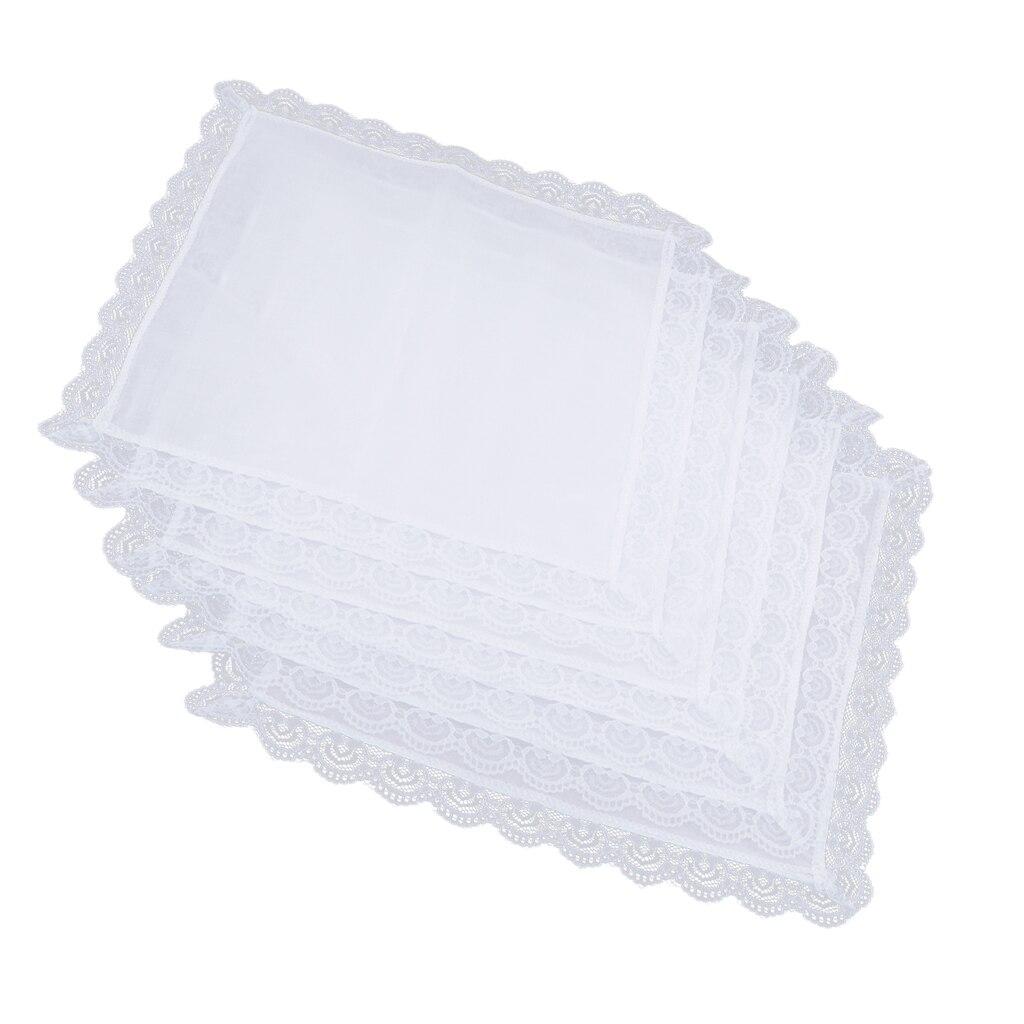 100% Cotton White Handkerchiefs Hanky Pocket Square For Men Women 26x27cm