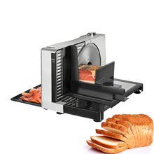 110v~240v Household Electric Meat Slicer Cutting Machine Semi Automatic Manual Frozen Bread Lamb Beef Vegetable 100W silver