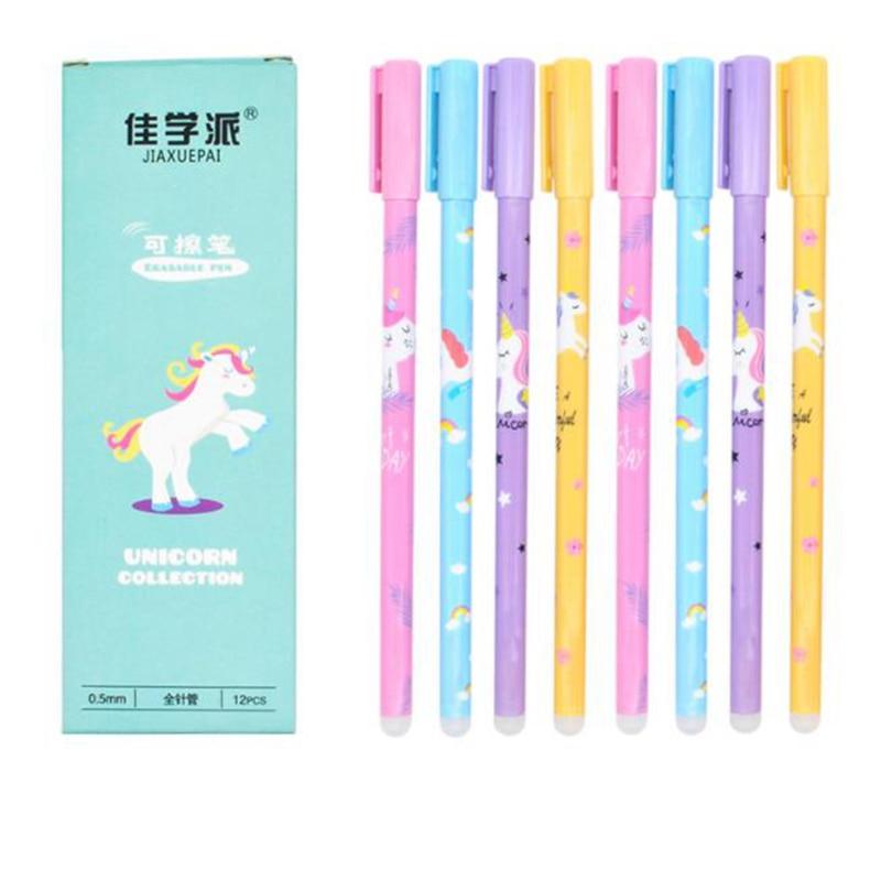 4 Pcs/Set 0.5mm Erasable Pen Refill Blue Ink Magic Gel Pen For School Office Writing Supply Student Exam Spare Kawaii Stationery