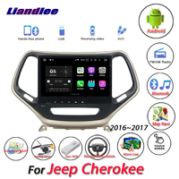 Liandlee Car Android System For Jeep Cherokee 2016~2017 Radio AUX Mirror link GPS Navi Navigation HD Stereo Multimedia No CD DVD