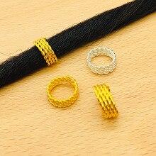 Connection-Ring Silver Braid Rose-Gold Black 100PCS Electrophoretic