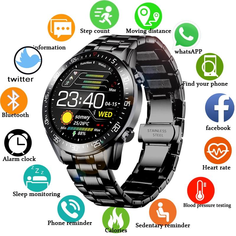 LIGE-montre numérique pour hommes, bracelet en acier, bracelet numérique de Sport, électronique 2020, horloge, Bluetooth, étanche, nouvelle collection LED