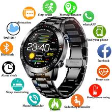 LIGE 2020 nowy pasek stalowy cyfrowy zegarek mężczyźni Sport zegarki elektroniczny LED męski zegarek na rękę dla mężczyzn zegar wodoodporny Bluetooth godziny tanie tanio STAINLESS STEEL CN (pochodzenie) 25cm 3Bar Moda casual Klamerka z zapięciem ROUND 22mm 11mm Z żywicy stoper podświetlenie