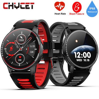 2020 Full Touch Round Smart Watch Men IP68 Waterproof Blood Pressure Smartwatch Women Heart Rate Sport Clock For Android IOS