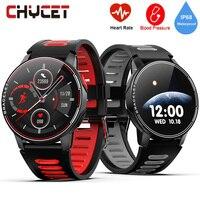 2020 toque completo redondo relógio inteligente homem ip68 à prova dip68 água pressão arterial smartwatch feminino freqüência cardíaca esporte relógio para android ios|Relógios inteligentes|   -
