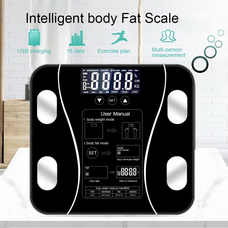 Neue Smart Körper Fett Skala Boden Wissenschaftliche Smart Elektronische LED Digital Gewicht Mess Balance Bluetooth APP Android Oder IOS