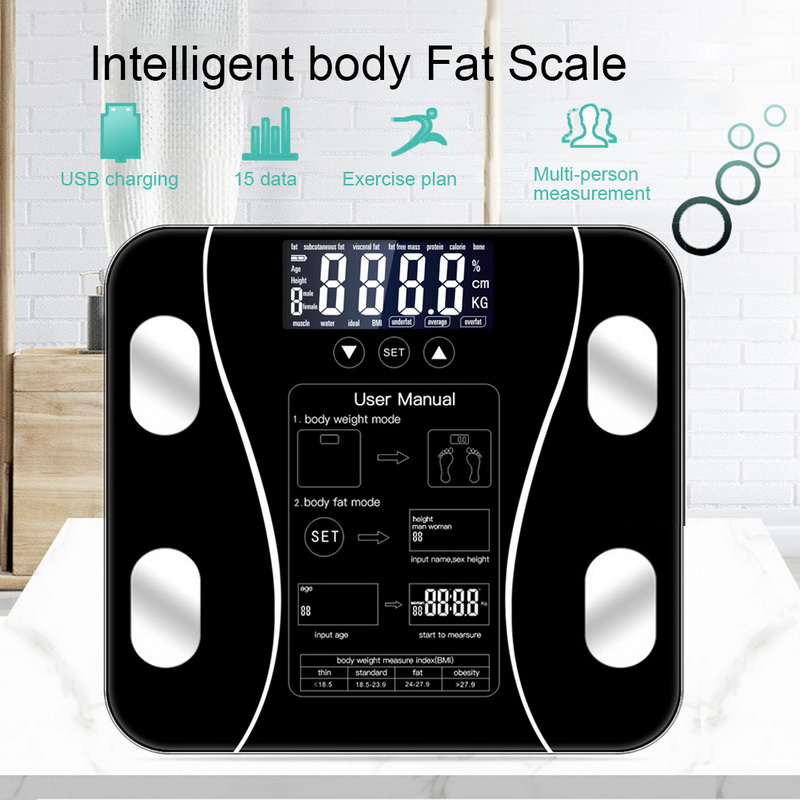 Fat-Scale Weight-Measuring-Balance Floor Digital Bluetooth-App Electronic Smart Android title=