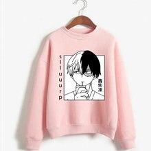 Meu herói academia todoroki shoto hoodie anime manga longa casaul moletom solto pullovers topos