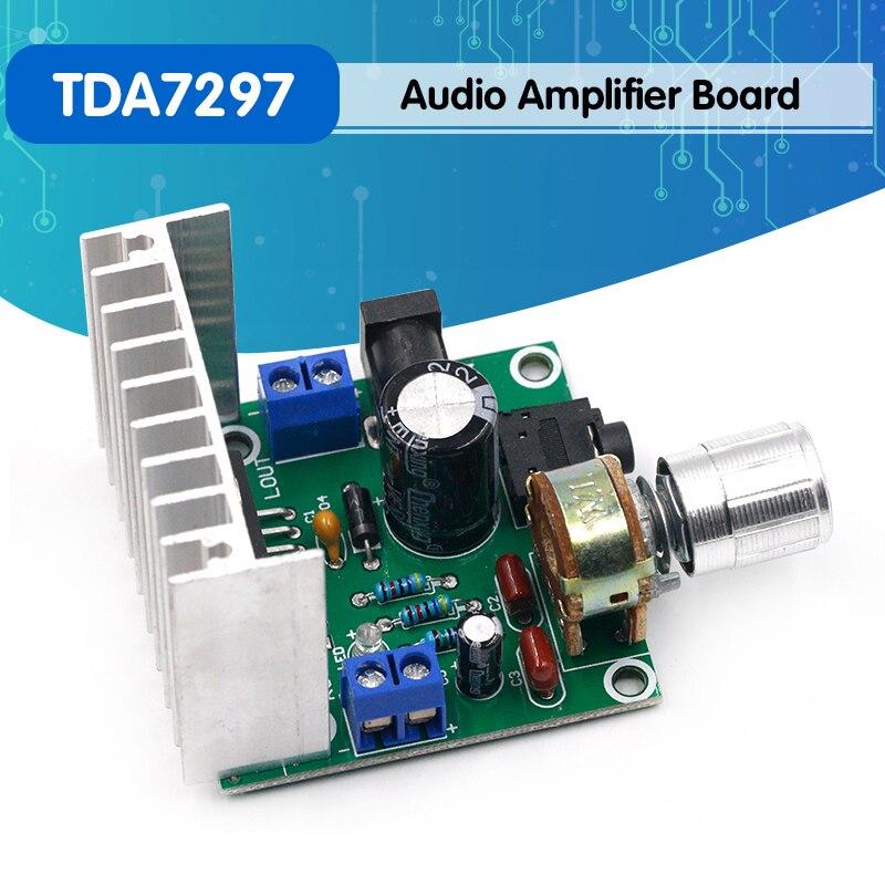 1 шт. tda7297 усилитель плата цифровой усилитель плата двухканальный усилитель плата не шум 12 в двойной 15 Вт (тип A)|Запасные части|   | АлиЭкспресс