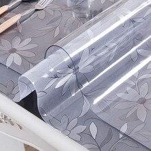 ПВХ скатерть Прозрачная D' Водонепроницаемая скатерть с кухонным узором масляная скатерть стеклянная мягкая ткань 1,0 мм