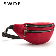SWDF Brand Holographic Waist Bag Women Luxury Fanny Pack Belt Lady Sport Chest Phone Pouch With Zipper For Female Travelling