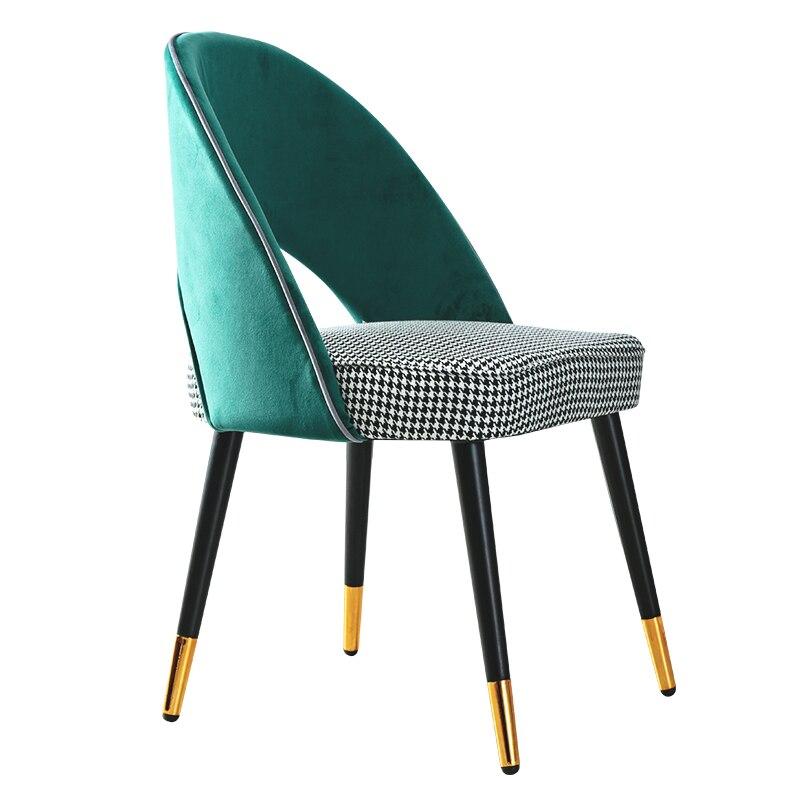 Light Luxury Dining Chair Home Modern Minimalist Nordic Wood Chair Backrest Leisure Restaurant Net Red Tea Shop Stool
