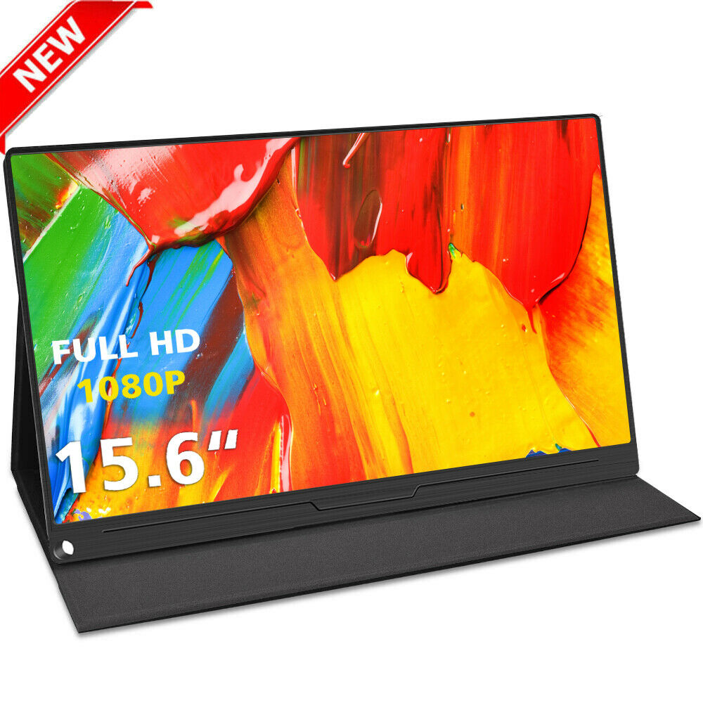 2020 NEW 15.6 inch FHD Ultra Slim HDR Portable Monitor <font><b>IPS</b></font> <font><b>1920x1080</b></font> <font><b>IPS</b></font> screen USB Type C <font><b>HDMI</b></font> display for PC laptop Ps4 image