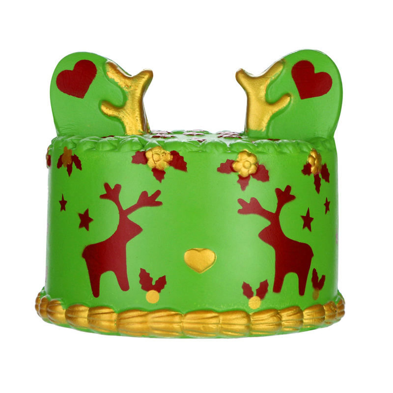 9*10CM Squichi Kawaii Deer Cake Squishy Soft Decompression Toys Super Slow Rising Fruits Scented Squeeze Stress Relief Toys A40