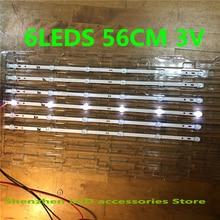 30 unids/lote 6LEDS 560mm SVJ320AG2 130307 led Luz de tira para la 32D2000 SVJ320AK3 SVJ320AL14 3V 100% nuevo