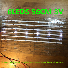 30Pieces/lot 6LEDS 560mm SVJ320AG2 130307 led strip     light for 32D2000 SVJ320AK3 SVJ320AL14 3V 100%NEW