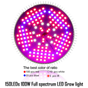 Image 3 - (10pcs/Lot) E27 100W Full Spectrum LED Grow Light For Indoor Garden Greenhouse Plant Growing & Flowering SMD Grow Lamp