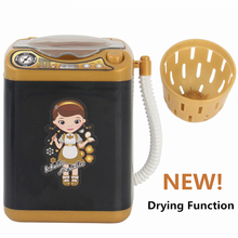 Pretend-Play-Toys Dollhouse-Furniture Electric-Washing-Machine Mini for Makeup-Brushes-Cleaner-Tool