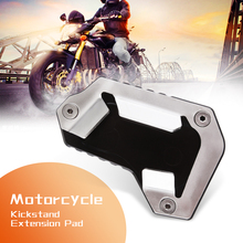 Motorcycle Kickstand Foot Side Stand Extension Pad Support Plate For TRIUMPH TIGER 1200 EXPLORER 2016 2017 Moto Accessories 2019