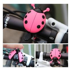 Dzwonek rowerowy Beetle Cartoon dzwonek rowerowy piękny dzieci biedronka dzwonek do roweru Ride Horn Alarm akcesoria rowerowe|Dzwonki rowerowe|   -