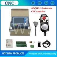 Nieuw Verbeterde Cnc Kit Offline Ddcsv3.1 Motion Control System 3-As 4-Assige Cnc Controller Noodstop Elektronische handwiel