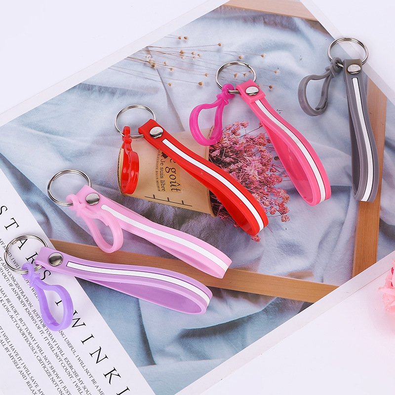 Affordable Simple Useful Design Fashion Young People Color Keyring High Quality Creative Girls Students Multicolor Rope Keychain