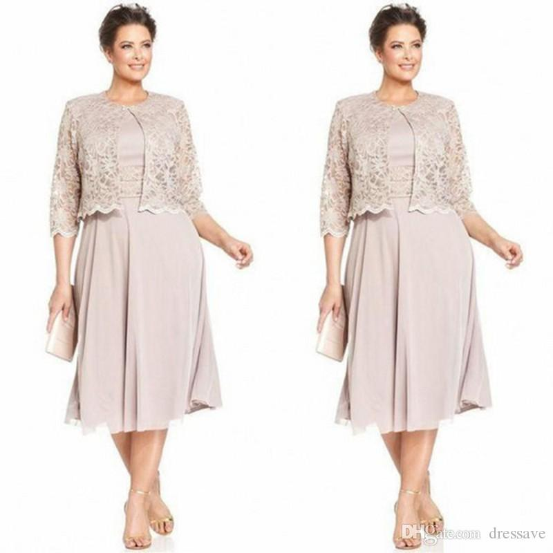 Elegant Mother Of The Bride Groom Dress With Jacket Chiffon Formal Wedding Party Gown Plus Size Long Sleeve Customize