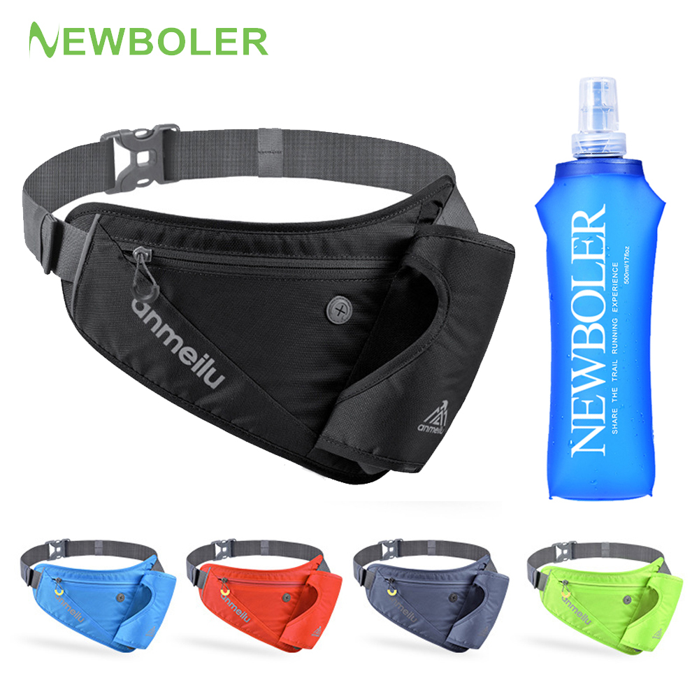 Running Waist Marathon Bag Sports Hiking Racing Gym Climbing Fitness Lightweight Hydration Belt Water Bottle Hip Waist Pack