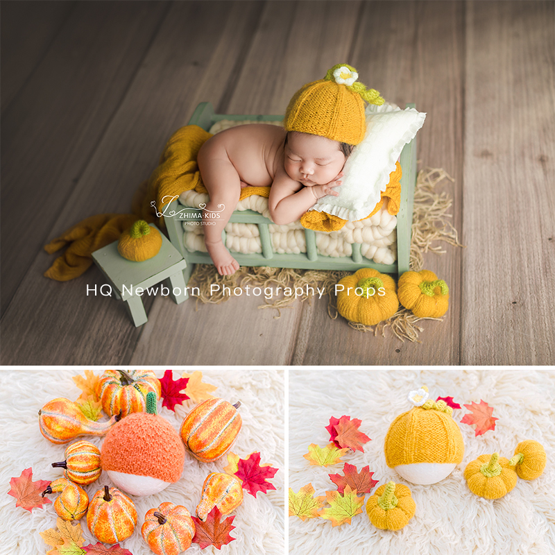 2020 Handmade Newborn Photography Hat Baby Photoshooting Props Knitted Mohair Hat Infant  PHOTO STUDIO A