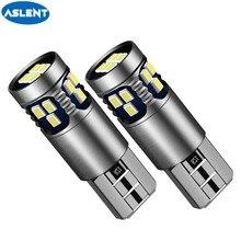 ASLENT 2PCS T10 LED W5W LED canbus car interior light 194 501 18SMD LED Instrument Lights bulb Wedge light no error 12V 6000K цена и фото