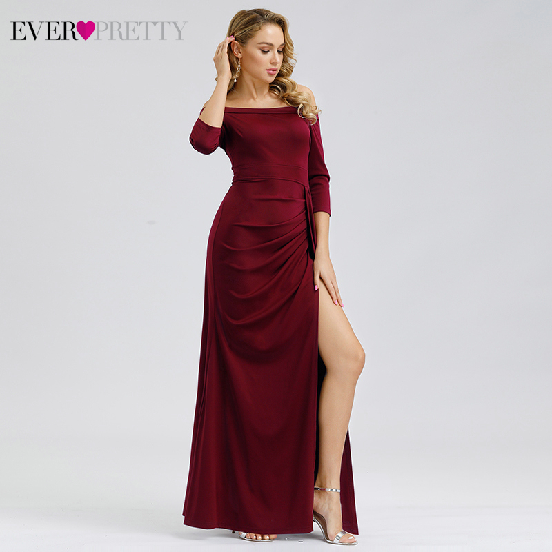 Sexy Prom Dresses Ever Pretty Elegant Straight Off The Shoulder Boat Neck Mermaid 2020 Vintage Simple Party Gowns Robe De Soiree