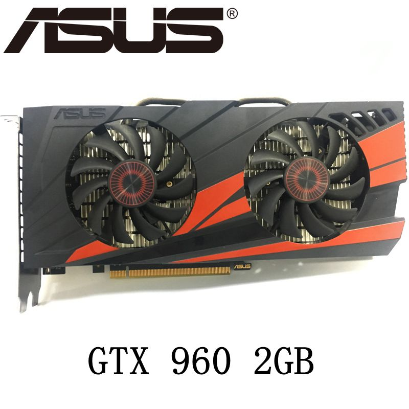 Asus GTX 960 OC 2GB GT960 GTX960 2G D5 DDR5 128 Bit nVIDIA PC Desktop Graphics Cards computer Graphics Cards PCI Express 3.0